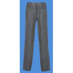 LHS8020 -Adult Style Woven Twill Grey Pant with Adjustable Waist