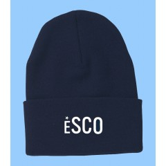 ESCO011 -TUQUE WITH EMBROIDERED SCHOOL LOGO -ONE SIZE