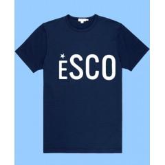 ESCO701 Navy  Short Sleeve T-Shirt with White ESCO print