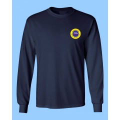 OE702 -  Poly cotton Navy  Long Sleeve  T-shirt with Option-Étude  logo for Daily Wear