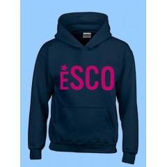 PSCO4092  Kangaroo Fleece Hoodie with  pink ESCO Print-PURCHASE DEADLINE JULY 15