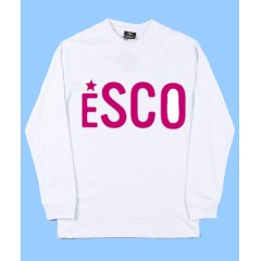 PSCO552 - White Long Sleeve T-shirt  with Pink Printed Logo- PURCHASE DEADLINE JULY 15TH