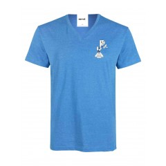 PJ406 Blue Short Sleeve V Neck T-Shirt