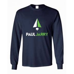 PJ4060 Navy Long Sleeve T-shirt with school logo