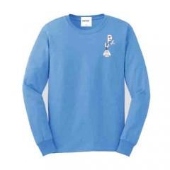 PJ410 Blue Long Sleeve Crew Neck T-shirt