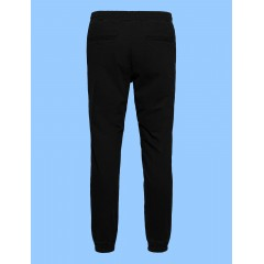 LAP9230 - Unisex Black Rugby Style Stretch Pant Elastic cuff