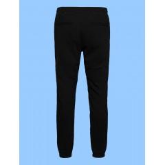 FEL9230 - Unisex Black Rugby Style Stretch Pant Elastic cuff - FOR SCHOOL WEAR (NOT FOR GYM)