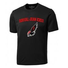 DOR1519 - Black Crew Neck t-shirt with Falcon Print