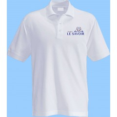 SAV7006 - White Short Sleeve Piqué Polo with school logo