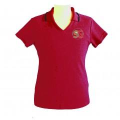 SG2302 - Tapered cherry red  V neck polo