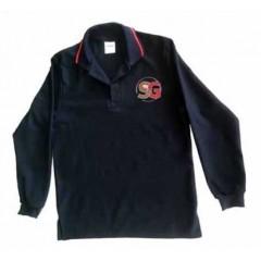SG1008 -Black  Urban Style Long Sleeve polo