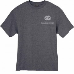 SG1012 -  Poly cotton Charcoal crew neck t-shirt for GYM