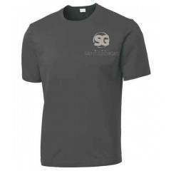 SG1013 - Performance  Charcoal crew neck t-shirt FOR GYM