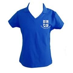 LAS205 Girls Short Sleeve Tapered V Neck Polo