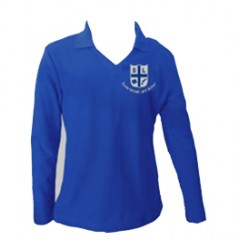 LAS207 Girls Long Sleeve Tapered V Neck Polo