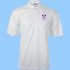 WES1006 - White short sleeve polo with embroidered school crest