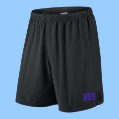 WES1014 - Black Athletic Mesh Bermuda Length Basketball Short