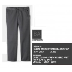 BEU8019 - Junior Style Grey Pant with Elastic Back-Optional Purchase