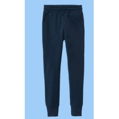 CW855 Navy Fleece Tapered Sweatpant with rib cuff
