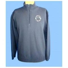DOR1011 - Charcoal Grey Half Zip Acrylic Sweater