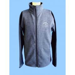 LAP1005 - Charcoal Grey Fleece Tapered Cardigan