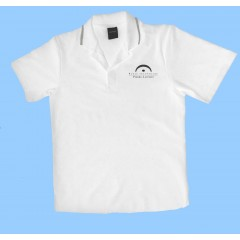 LAP1006 - White short sleeve polo