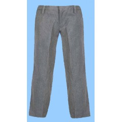 SAV8019 - Junior Style Woven Twill Grey Pant with Elastic Back