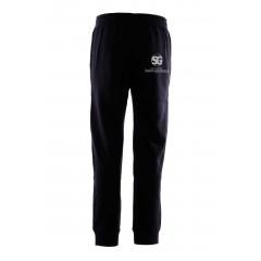 SG1015 - Black Fleece Jogging Pant with rib cuff