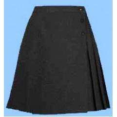 WES9017 - Girls Black Woven Skirt